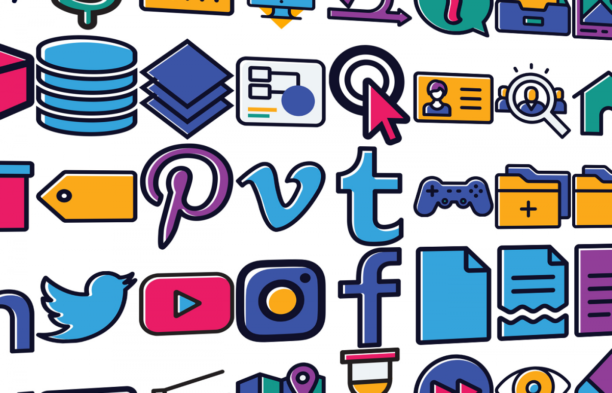 Sample of over 200 icons I created for MarTechExec